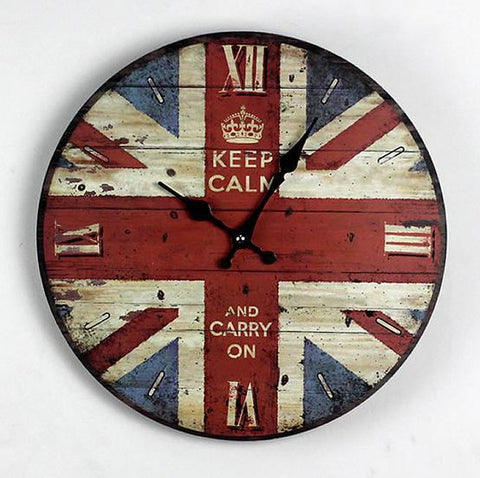 Vintage British flag wall clock