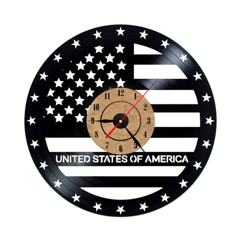 Elegant US flag wall clock