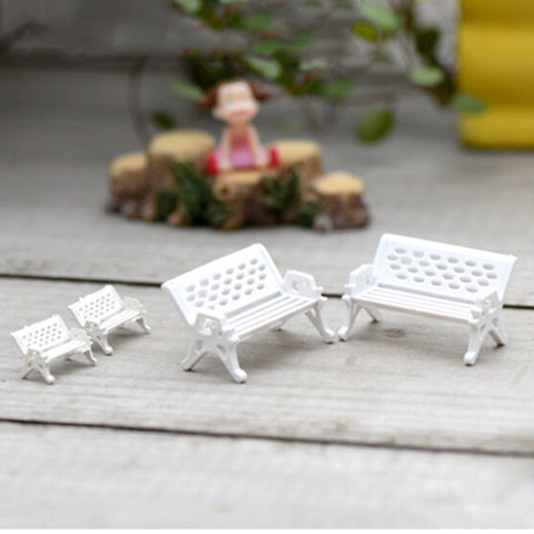 1Pc White Park Bench