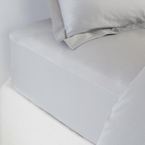 Bamboo Fitted Sheet - Soft Grey - All Bamboo Limited