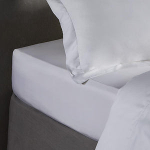 Bamboo Fitted Sheet - Pure White - All Bamboo