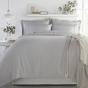 Bamboo Flat Sheet - Soft Grey - All Bamboo