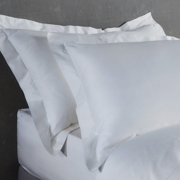 Bamboo Pillowcases Set of 2 (Natural White) Oxford Style