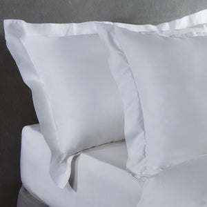 Bamboo Pillowcases - Set of 2 (Pure White) - Oxford Style - All Bamboo