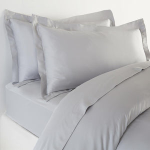 Bamboo Pillowcases - Set of 2 (Soft Grey) - Oxford Style - All Bamboo