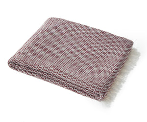 Bamboo & Cotton Peshtemal Scarf Wrap -  Herringbone (Burgundy) - All Bamboo Limited