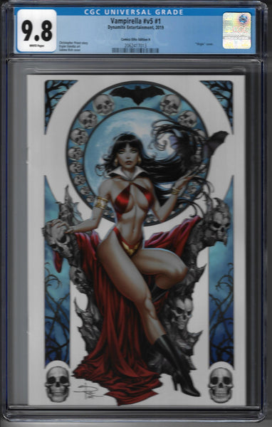 Vampirella #V5 #1 - Limited Edition Sabine Rich Cover 1 of 400 - CGC Graded