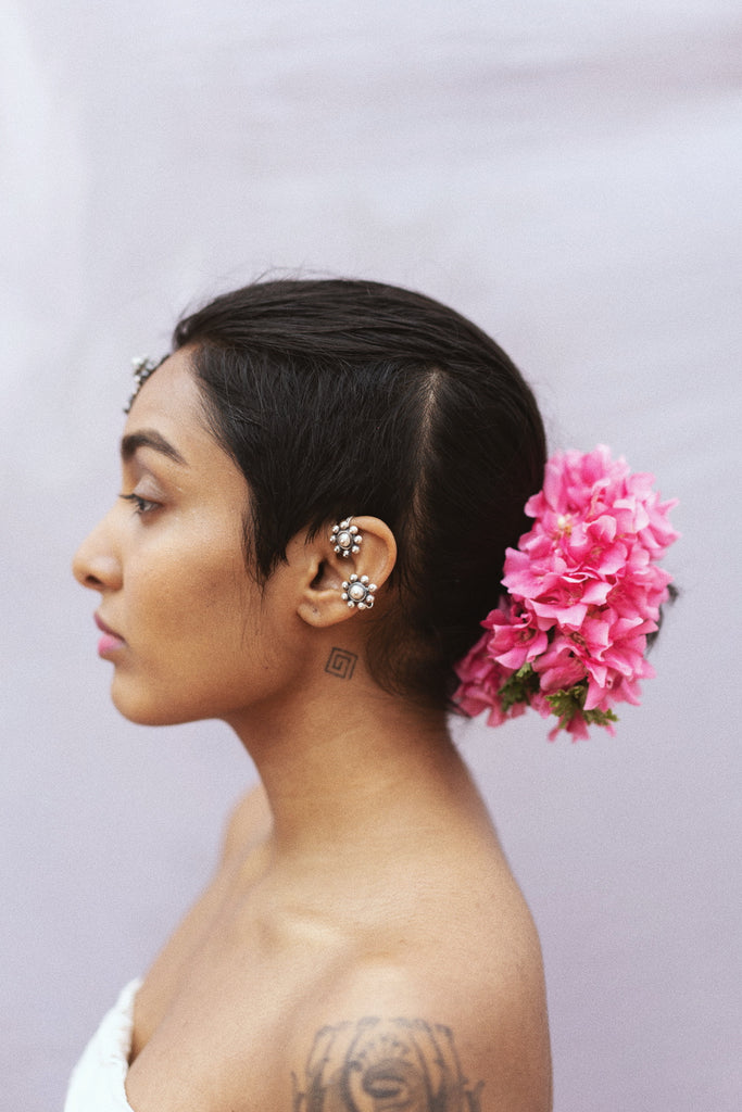 Flower Ear Clip