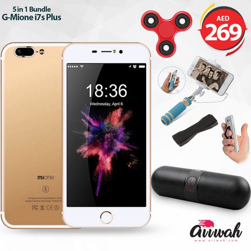 Mione i7s Plus, Red 4G IPS 5.5 Display 32GB-Aiiwah.com