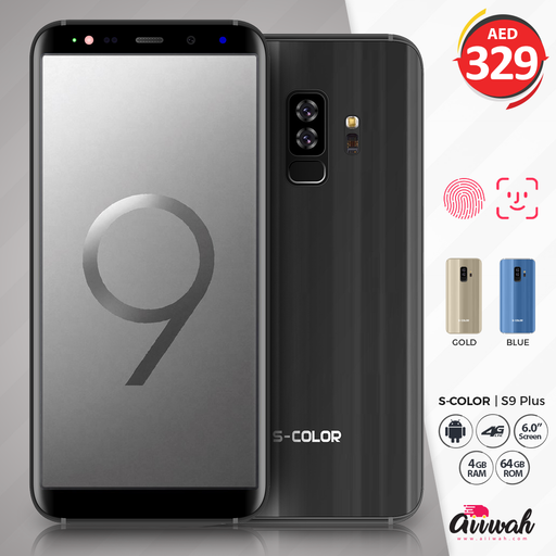 "S COLOR S9 Plus, Dual Sim, Dual Cam, 6.0"" IPS, 4GB RAM, 64GB ROM"