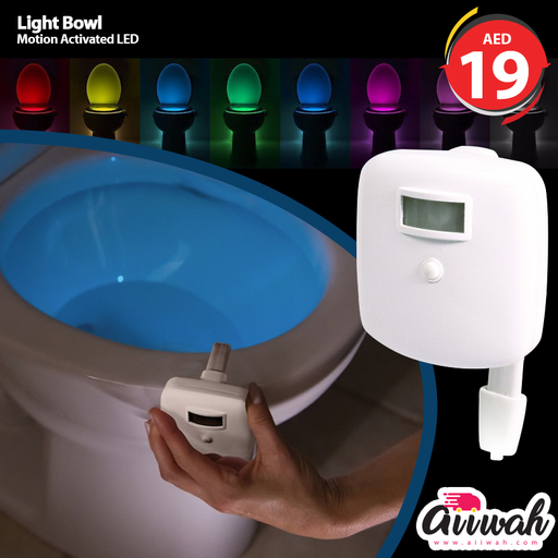 Toilit Light LED Light Changing Tolet Bowl Nightlight for Bathroom Perfect Decorating illumibowl Water Toilette Light-Aiiwah.com
