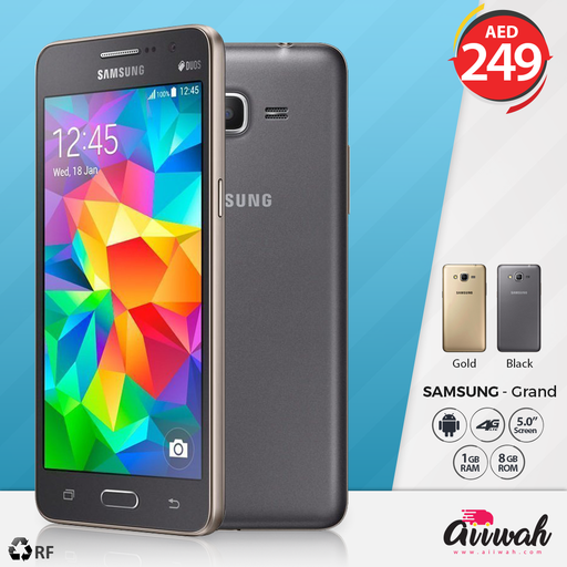 Samsung Galaxy Grand Prime, 8GB, 4G LTE (Refurbished) - Aiiwah.com