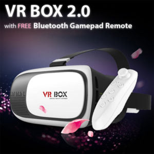 VR Box VR02 Virtual Reality 3D Glasses with Bluetooth Gamepad Remote Controller-Aiiwah.com
