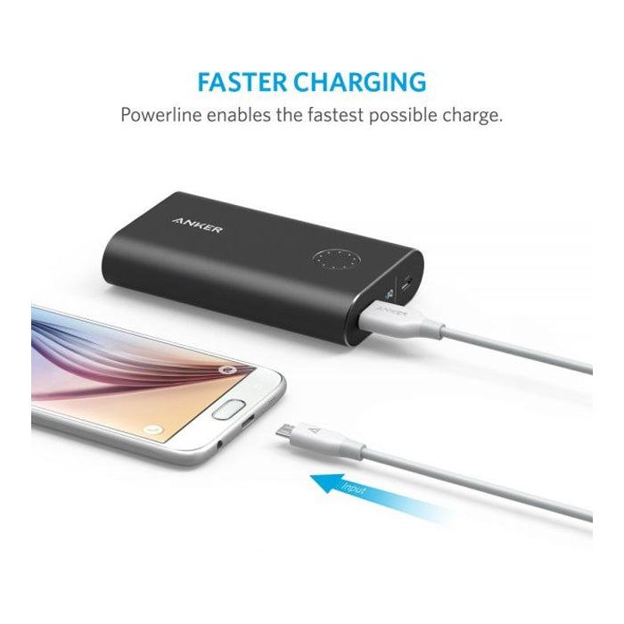 Anker Powerline+ Micro USB 10ft Premium and Durable Cable, White - Aiiwah.com