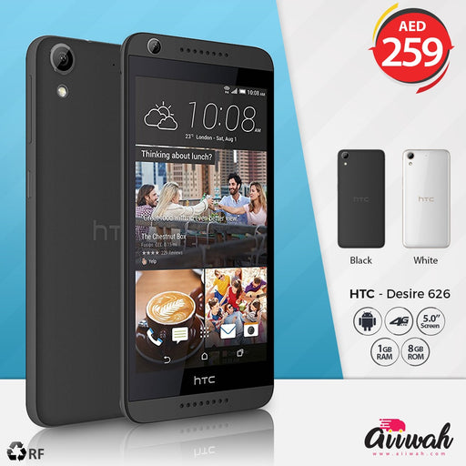 HTC Desire 626, 8GB, 4G LTE (Refurbished) - Aiiwah.com