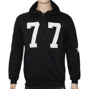 "Trap ""77"" Hoodie Jacket High Quality - Black"