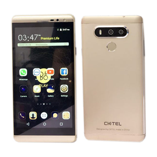 Cktel V2 Plus Fingerprint 4G IPS Display Gold-Aiiwah.com