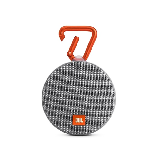 JBL Clip 2 Waterproof Portable Bluetooth Speaker (Gray)-Aiiwah.com