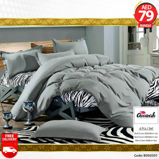 6 Piece Bedding Set-BDS0301 - Aiiwah.com
