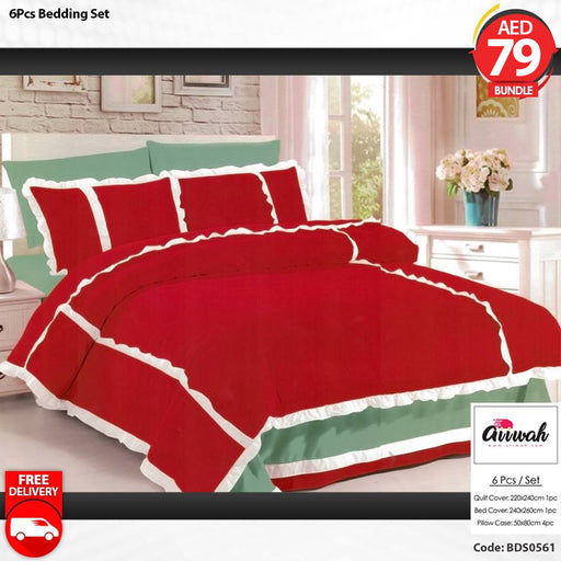 6 Piece Bedding Set-BDS0561 - Aiiwah.com