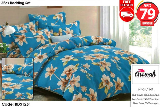 6 Piece Bedding Set-BDS1251 - Aiiwah.com
