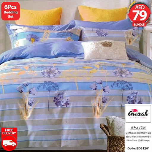 6 Piece Bedding Set-BDS1261 - Aiiwah.com