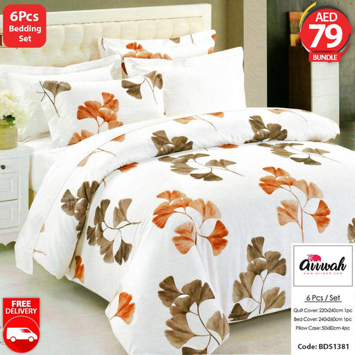 6 Piece Bedding Set-BDS1381 - Aiiwah.com