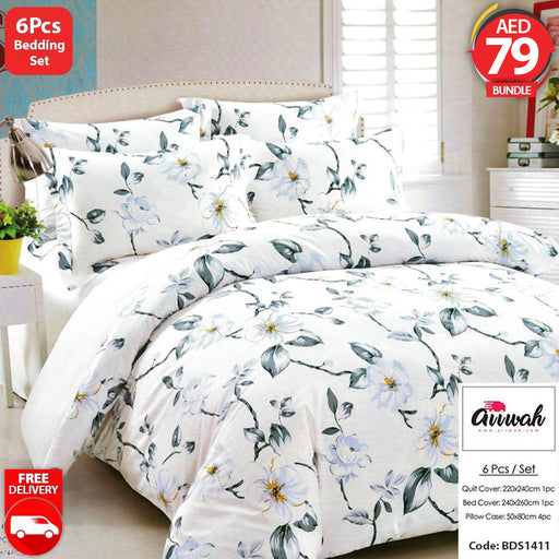 6 Piece Bedding Set-BDS1411 - Aiiwah.com