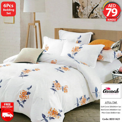 6 Piece Bedding Set-BDS1421 - Aiiwah.com