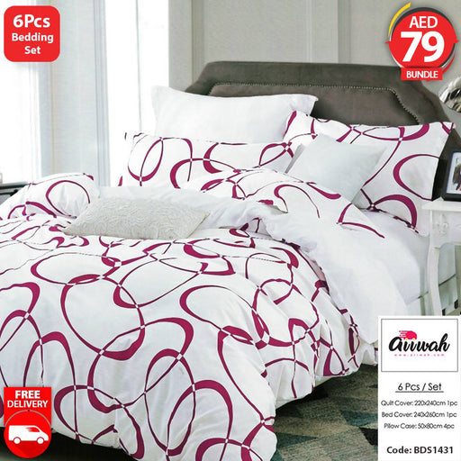 6 Piece Bedding Set-BDS1431 - Aiiwah.com