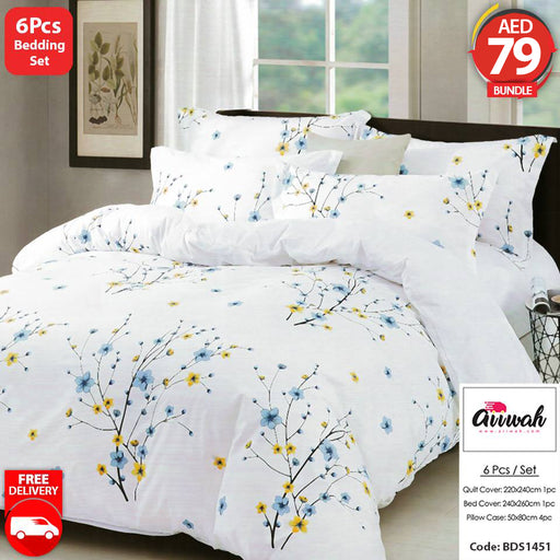 6 Piece Bedding Set-BDS1451 - Aiiwah.com