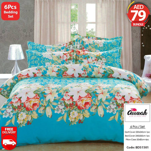 6 Piece Bedding Set-BDS1501 - Aiiwah.com