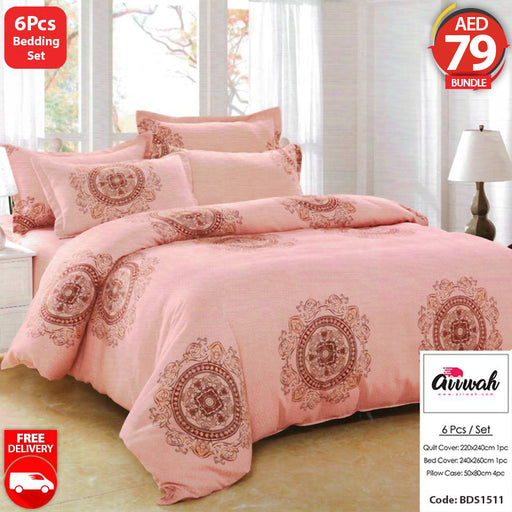6 Piece Bedding Set-BDS1511 - Aiiwah.com