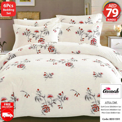 6 Piece Bedding Set-BDS1591 - Aiiwah.com