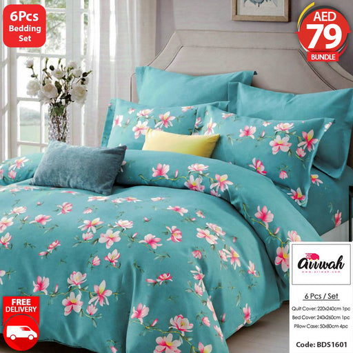 6 Piece Bedding Set-BDS1601 - Aiiwah.com