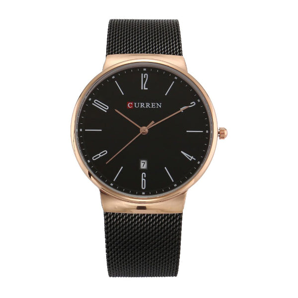 Curren Men's Black Dile Stainless Steel Watch CU-8257-Aiiwah.com
