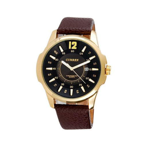 CURREN 8123 Men's Round Dial Analog Quartz Watch with Date Display-Aiiwah.com