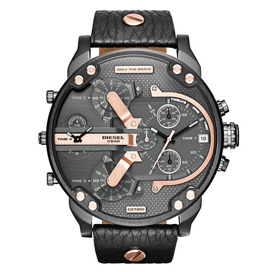 BRAND NEW DIESEL DZ7350 MR DADDY 2.0  LEATHER CHRONO MEN'S WATCH-Aiiwah.com
