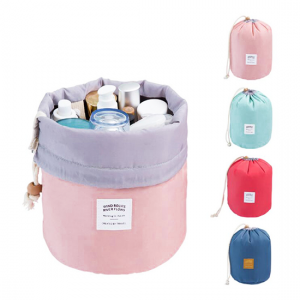 Barrel Shaped Travel Cosmetic Bag - Aiiwah.com