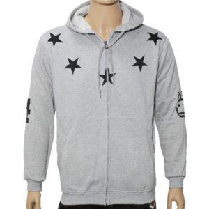 "Trap ""Lucky Stars"" Hoodie Jacket High Quality - Grey"