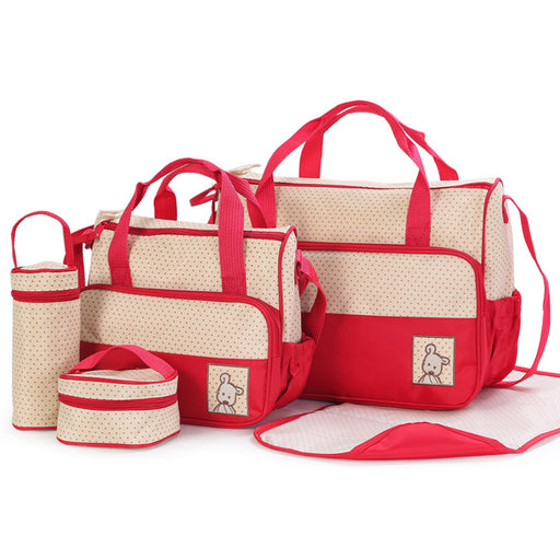 5Pcs Baby Nappy Changing Bags Set - Aiiwah.com