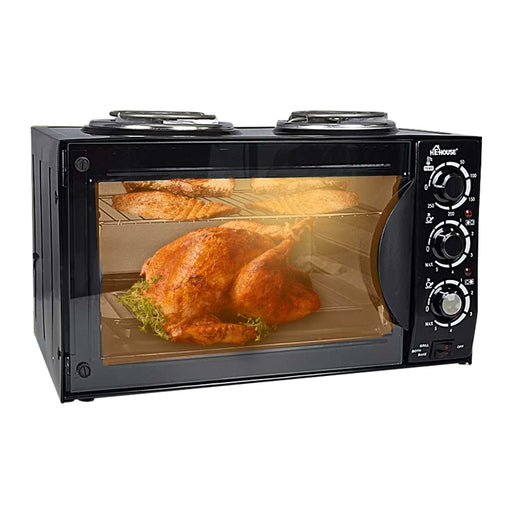 He-House 2 in 1 40 Liter Electric Oven with 2 Hot Plates (HE-3505) - Aiiwah.com