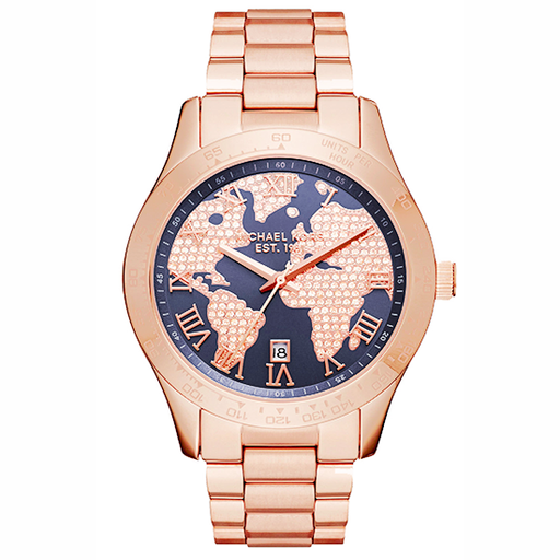 Michael Kors Women's Layton Rose Goldtone Three Hand Watch - MK6395-Aiiwah.com