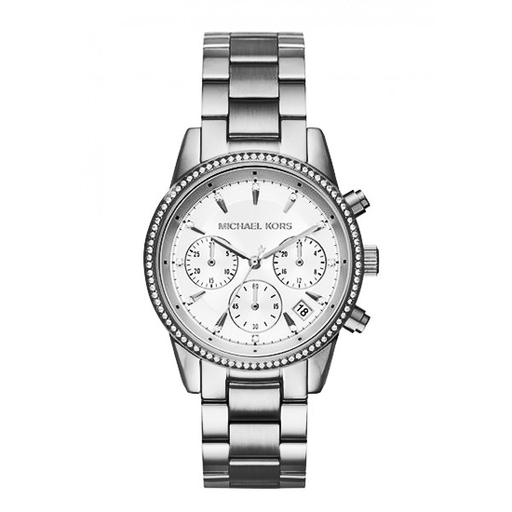 Michael Kors Women's Ritz Silver-Tone Watch - MK6428-Aiiwah.com