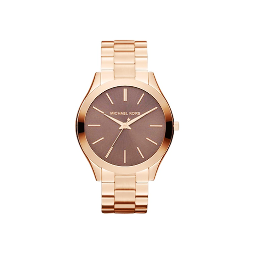 Michael Kors Slim Runway Rose Gold Tone Stainless Steel Wrist Watch - MK3181-Aiiwah.com