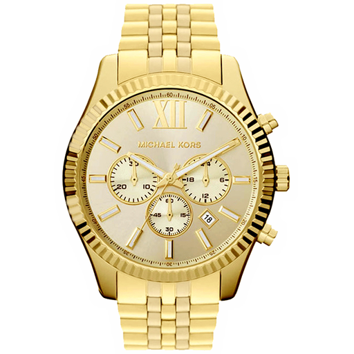 Michael Kors Lexington Chronograph Champagne Dial Men's Watch - MK8281-Aiiwah.com