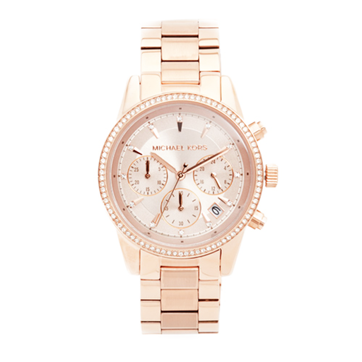 Michael Kors Women's Ritz Rose Gold-Tone Watch - MK6357-Aiiwah.com