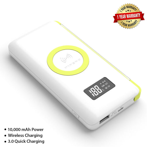 PINENG Powerbank 10000mAh Lithium Polymer (Quick charge 3.0 & Wireless with 1 Year Warranty) - PN-888