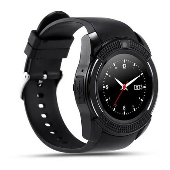 Smart Watch Single Sim with Camera, Bluetooth, Silicone Band For Android - W001 - Aiiwah.com