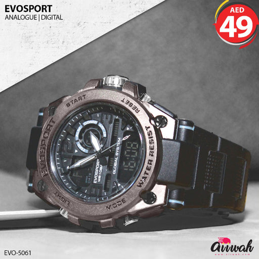 Evosport Analogue Digital Men's Watch - EVO-5061-Aiiwah.com